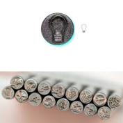 BIJ-880-9, KENT 5mm Precision Design Metal Punch Stamp, Lightbulb Shape, Sold Individually