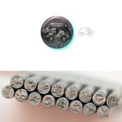 BIJ-880-2, KENT 5mm Precision Design Metal Punch Stamp, Car Design, Sold Individually