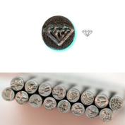 BIJ-880-5, KENT 5mm Precision Design Metal Punch Stamp, Diamond Design, Sold Individually