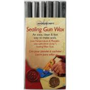 Glue Gun Letter Sealing Wax - Silver Pack of 18