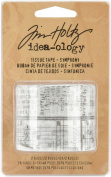 Symphony Tissue Tape by Tim Holtz Idea-ology, 2 Rolls per Pack, 1.9cm x 16 Yards, Paper, Multicoloured, TH92829