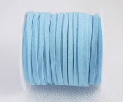 AQUA BLUE 3mm x 1.5mm Faux Suede Cord Lace Bracelet Craft Jewellery Making, 5yds Mini Spool