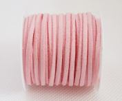 PINK 3mm x 1.5mm Faux Suede Cord Lace Bracelet Craft Jewellery Making, 5yds Mini Spool