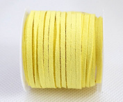 YELLOW 3mm x 1.5mm Faux Suede Cord Lace Bracelet Craft Jewellery Making, 5yds Mini Spool