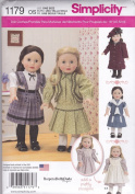 Simplicity Patterns US1179OS Vintage Inspired Clothes for 46cm Doll, OS