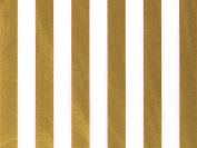 Gold & White Stripe Tissue Paper 24 Sheets 50cm X 80cm