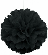 "SUNBEAUTY 10""/25cm 5pcs Tissue Paper Black Colour Pom Poms Flower Balls Hanging Decoration Party Birthday Wedding"
