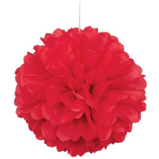 "SUNBEAUTY 10""/25cm 5pcs Tissue Paper Red Colour Pom Poms Flower Balls Hanging Decoration Party Birthday Wedding"