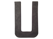 Paper Mache Letter U by Craft Pedlars Black 20cm .