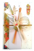 Japanese Traditional Money Envelope for Wedding - Bukuro with Flying Crane Mizuhiki Design