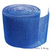 Royal Blue Diamond Mesh Wrap Roll Rhinestone Crystal Ribbon 11cm x 10 yards
