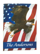 Miles Kimball Personalised Patriotic Eagle Garden Flag