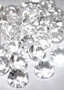 8.0mm 2 Ct 1000 Pcs Clear Wedding Party Diamond Confetti Table Scatters Decoration Good Crafted DIY Ideas