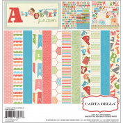 Carta Bella Paper Alphabet Junction Scrapbook Kit