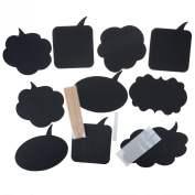 Cren 10Pcs Photo Booth Prop DIY Bubble Speech Chalk Board Wedding Party Photobooth