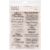MSE Stamp Sheet, 15cm by 20cm , Anniversary, Clear