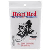 Deep Red Cling Stamp-All Star Sneakers
