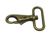 Generic Metal Colour Bronze Lobster Clasps 3.8cm Inside Diameter Oval Swivel Trigger Clips Hooks for Purse Bag Straps Pack of 6