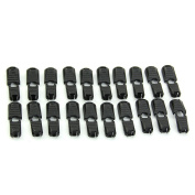 HeroNeo® 20/40/100Pcs Black Paracord Plastic Zippers Pull Replacement For Sport Outdoor