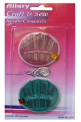 45 Craft and Sew Needle Compacts. 30 Assorted Sewing Needles, 15 Craft Needles