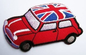 "MINI COOPER Union Jack/Red - Classic Embroidered PatchApprox:3.74""/9.5cm x Approx"