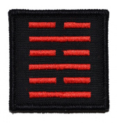 Snake Eyes, Ninja Emblem 2x2 Biker / Cosplay Iron On or Sew On Patch - Black with Red