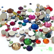 Mixed Sizes & Colours 144 pieces 2058/2088 Crystal Flatbacks rhinestones nail art mixed with Sizes ss5, ss7, ss9, ss12, ss16, ss20, ss30. from Mychobos (Crystal-Wholesale)**