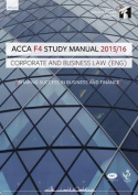 ACCA F4 Corporate and Business Law (English) Study Manual Text
