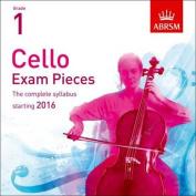 Cello Exam Pieces 2016, ABRSM Grade 1 [Audio]