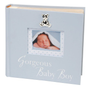 """Gorgeous Baby Boy"" Blue Keepsake Photo Album By Haysom Interiors"