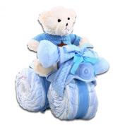 Tricycle Nappy Cake - Baby Boy
