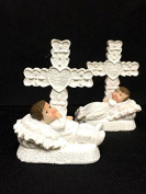 10 Baby Boy in Bed with Cross Christening Favour Keepsake Gift