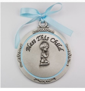 Beautiful Boy's Baptism Boy Crib Medal/Carded 5.1cm - 1.9cm Overall Length