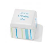 Dicksons Jesus Loves Me Keepsake Box, Blue