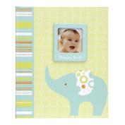 Elephant Baby's Fist Record Memory Book Keepsake, green
