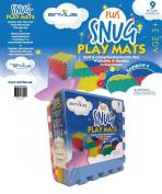 EnviUs Snug Plus Play Mat Rainbow 9 : Ultra Thick 9 Pieces (6 Colours) 30cm x 30cm x 1.4cm