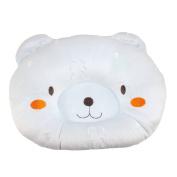 Dianoo Good Quality Hot Soft Cotton & Velvet Newborn Baby Anti-roll Pillow Prevent Flat Head Sleeping Positioner Cute Bear - blue