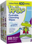 Kandoo Flushable Sensitive Wipes Unscented 400ct
