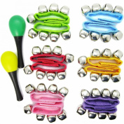Musical Toys Rhythm Band Wrist Bells Value Pack, 6 colours