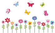 Bright Butterfly Garden Decorative Peel & Stick Wall Art Sticker Decals
