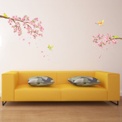 Decowall, DW-1303, Cherry Blossoms Wall Stickers, Home Art Decoration-wall stickers/wall decals/wall transfers/wall tattoos/wall sticker