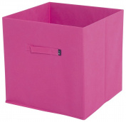 JoJo Maman Bebe Fabric Storage Cube, Fuchsia