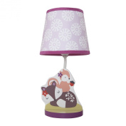 Bedtime Originals Lavender Woods Lamp with Shade and Bulb