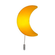 Children's Yellow Moon Wall Lamp, Bulb Is Included