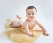 Woolino Natural Australian Lambskin Cuddle Rug for Babies
