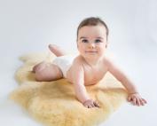 Woolino Natural Australian Lambskin Cuddle Rug for Babies