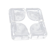 FOREVER YUNG 4 Pcs Clear Soft Plastic Desk Corner Pad Cover Protector Cushion