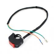 Sannysis Universal Motorcycle 2.2cm Handlebar Fog Light Switch DC 12V Electrical System