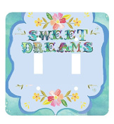 Sweet Dreams Typography Art Wall Plates