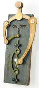 Green Tree Jewellery Single Toggle Grey Wood Light Switch Plate
